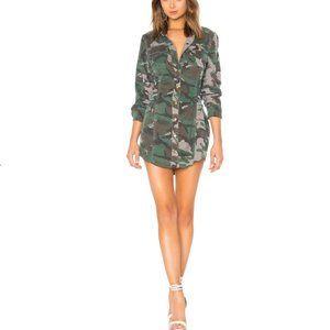 Pam & Gela Camo Shirt Dress With Corset sz S
